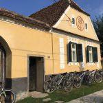 Cycling around Copsa Mare